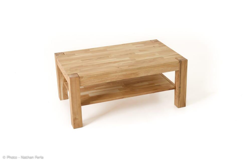 packshot table basse bois naturel