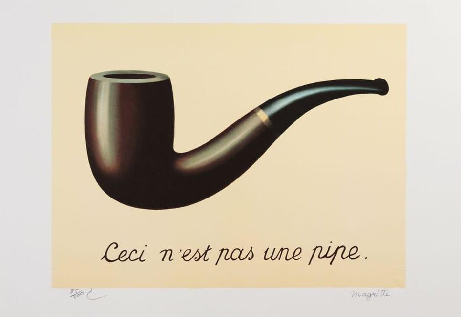 lithographie Magritte ceci n'est pas une pipe