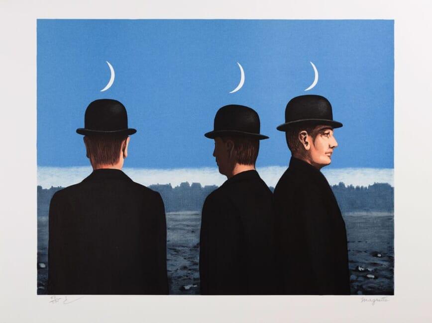 lithographie Magritte Les mystères de l'horizon