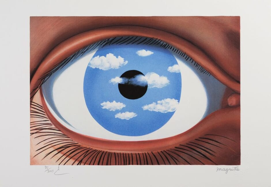 lithographie Magritte Le faux miroir