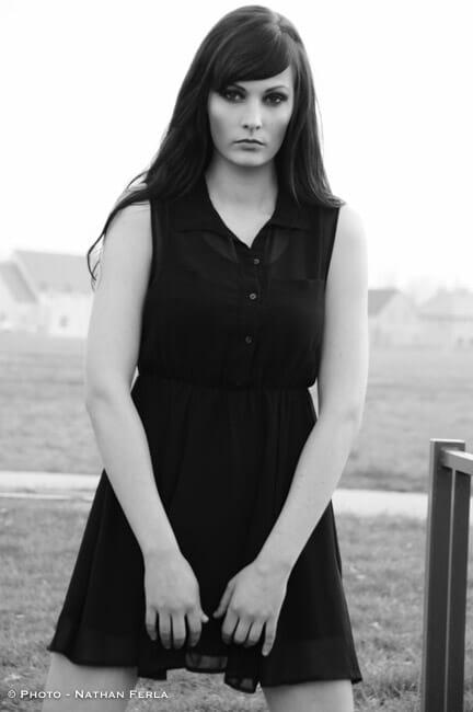 photographe de mode noir et blanc nature