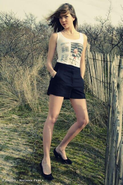 photographe pose fashion mer du Nord